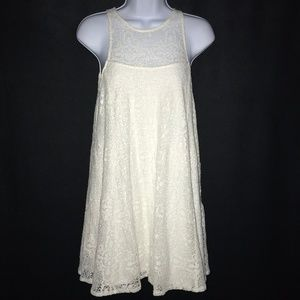 Free People Cream Floral Crocheted Dress XS